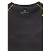 Skins A400 Logo Line Short Sleeve Top Men black/yellow